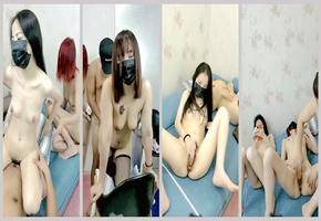 美女集中啪啪操美女交际所三个极品身材小萝莉轮着骑屌插操炮: