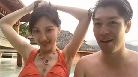 湾湾泳池门台湾情侣东南亚旅游泳池性爱流出 女主高颜值